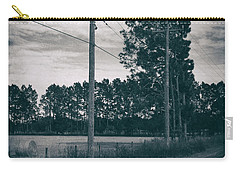 Carry-all Pouch featuring the photograph The Power Lines  by Howard Salmon