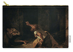 The Prisoner Of Chillon Carry-all Pouch by Ferdinand Victor Eugene Delacroix