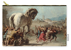 The Procession Of The Trojan Horse Into Troy Carry-all Pouch
