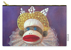 Carry-all Pouch featuring the painting The Proud Queen by Randol Burns