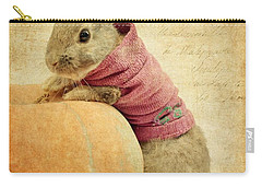 The Rabbit And The Pumpkin Carry-all Pouch