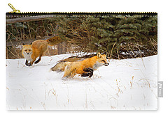 The Race Is On Carry-all Pouch by Jim Garrison