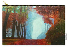 The Red Cathedral - A Journey Of Peace And Serenity Carry-all Pouch by Belinda Low