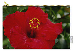 Carry-all Pouch featuring the photograph  Red Hibiscus by James C Thomas