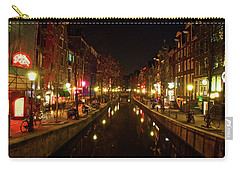 The Red Lights Of Amsterdam Carry-all Pouch by Jonah  Anderson