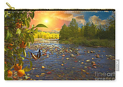 The Riches Of Life Carry-all Pouch by Liane Wright