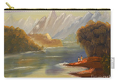 The River Flowing From A High Mountain Carry-all Pouch