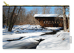 The River Flows Under The Springwater Covered Bridge Carry-all Pouch