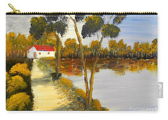 Carry-all Pouch featuring the painting The Riverhouse by Pamela  Meredith
