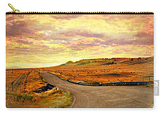 Carry-all Pouch featuring the photograph The Road Less Trraveled Sunset by Marty Koch