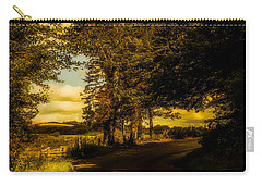 Carry-all Pouch featuring the photograph The Road To Litlington by Chris Lord