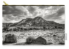 Carry-all Pouch featuring the photograph The Road To Zion In Black And White by Tammy Wetzel