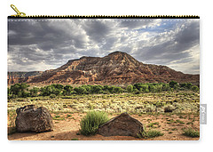 Carry-all Pouch featuring the photograph The Road To Zion by Tammy Wetzel
