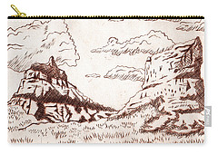 The Rocks Carry-all Pouch by Dustin Miller