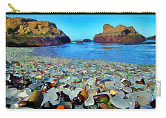 Glass Beach In Cali Carry-all Pouch by Catherine Lott