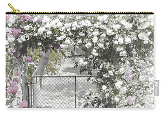 Carry-all Pouch featuring the photograph The Rose Arbor by Elaine Teague