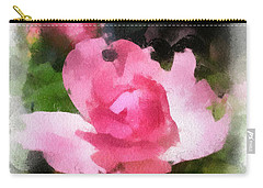 Carry-all Pouch featuring the photograph The Rose by Kerri Farley