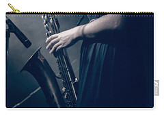 The Saxophonist Sounds In The Night Carry-all Pouch