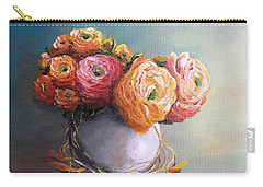 Carry-all Pouch featuring the painting The Scent Of Flowers by Vesna Martinjak