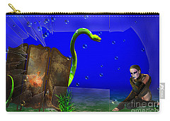 Carry-all Pouch featuring the digital art The Scent Of The Girl  by Liane Wright