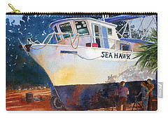Carry-all Pouch featuring the painting The Sea Hawk In Drydock by Roger Rockefeller