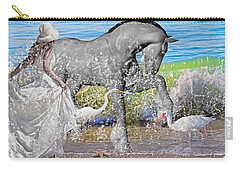 The Sea Horse Carry-all Pouch by Betsy Knapp