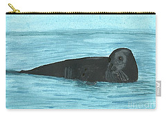 Carry-all Pouch featuring the painting The Seal by Tracey Williams