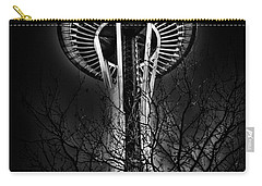 The Seattle Space Needle At Night Carry-all Pouch by David Patterson