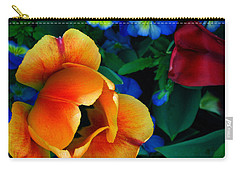 Carry-all Pouch featuring the photograph The Secret Life Of Tulips by Rory Sagner