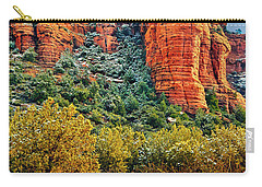 Carry-all Pouch featuring the photograph The Secret Mountain Wilderness In Sedona Back Country by Bob and Nadine Johnston