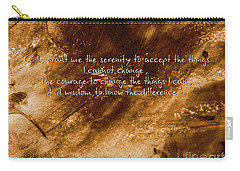 The Serenity Prayer 1 Carry-all Pouch by Andrea Anderegg