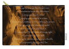 The Serenity Prayer Carry-all Pouch by Andrea Anderegg