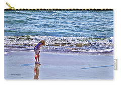 Carry-all Pouch featuring the photograph The Shell Hunter by Kenny Francis