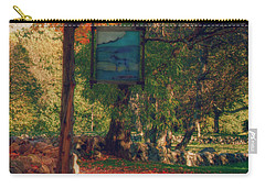 Carry-all Pouch featuring the photograph The Sign Of Fall Colors by Jeff Folger