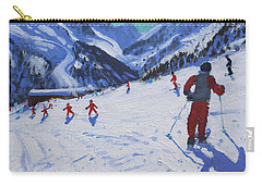 The Ski Instructor Carry-all Pouch by Andrew Macara