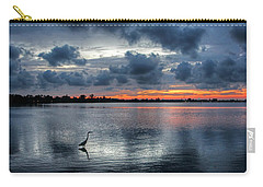 Carry-all Pouch featuring the photograph The Solitary Fisherman - Florida Sunset by HH Photography of Florida