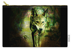 The Spirit Of The Wolf Carry-all Pouch by Absinthe Art By Michelle LeAnn Scott