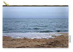 The Splash Over On A Sandy Beach Carry-all Pouch by Eunice Miller