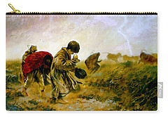 Carry-all Pouch featuring the painting The Storm by Henryk Gorecki