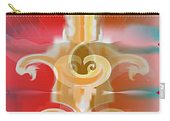 Carry-all Pouch featuring the digital art The Storm Tree by Kevin McLaughlin