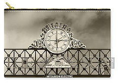 The Sun Orioles Clock - Sepia Carry-all Pouch