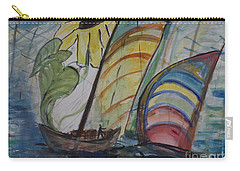 Carry-all Pouch featuring the painting The Sunflower Journey by Avonelle Kelsey