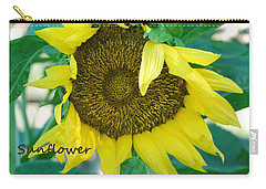 Sunflower Garden Carry-all Pouch by Lisa  DiFruscio