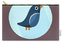 The Swallow Cute Portrait Carry-all Pouch by Florian Rodarte