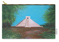 Carry-all Pouch featuring the painting The Temple Of Kukulcan by Alys Caviness-Gober
