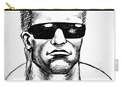 Carry-all Pouch featuring the painting Arnold Schwarzenegger by Salman Ravish