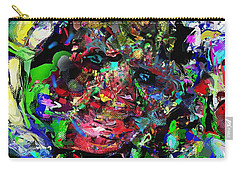 Carry-all Pouch featuring the digital art The Thinker by David Lane