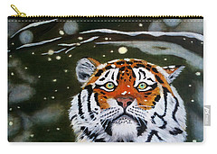 The Tiger In Winter Carry-all Pouch