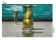 Carry-all Pouch featuring the digital art The Time Capsule by John Alexander