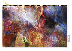 Carry-all Pouch featuring the mixed media The Touch by Ally  White